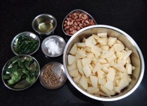 Potato Peanut Bhaji